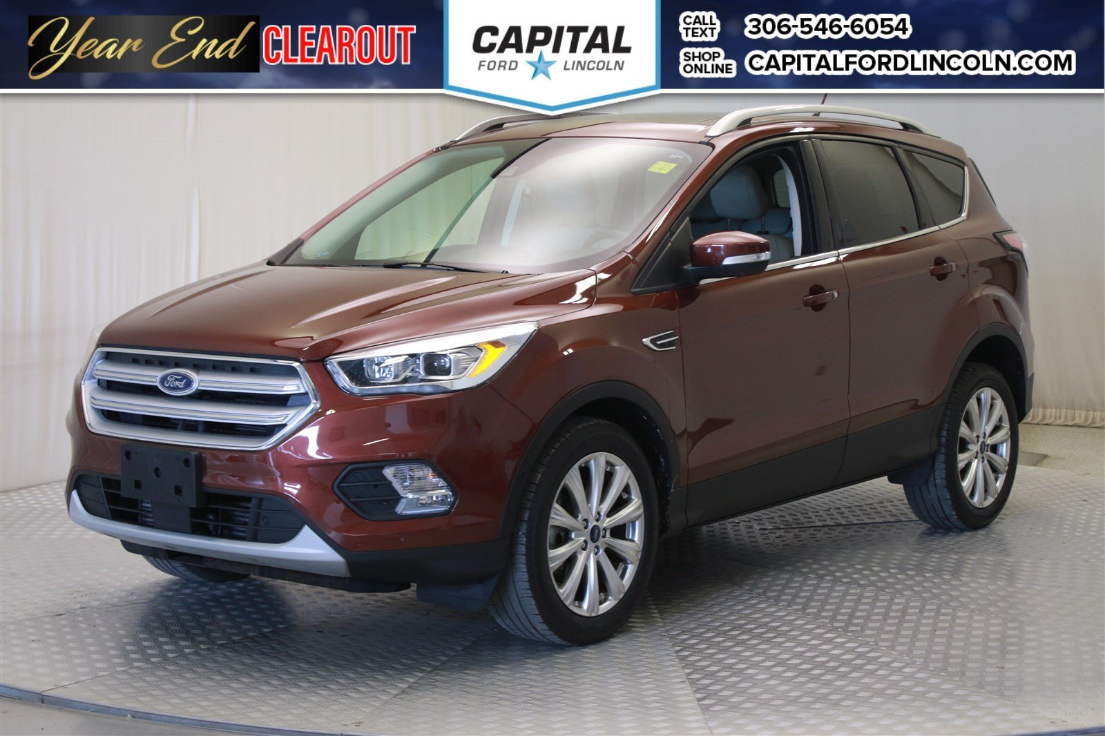 Pre owned 2018 ford escape titanium leather sunroof