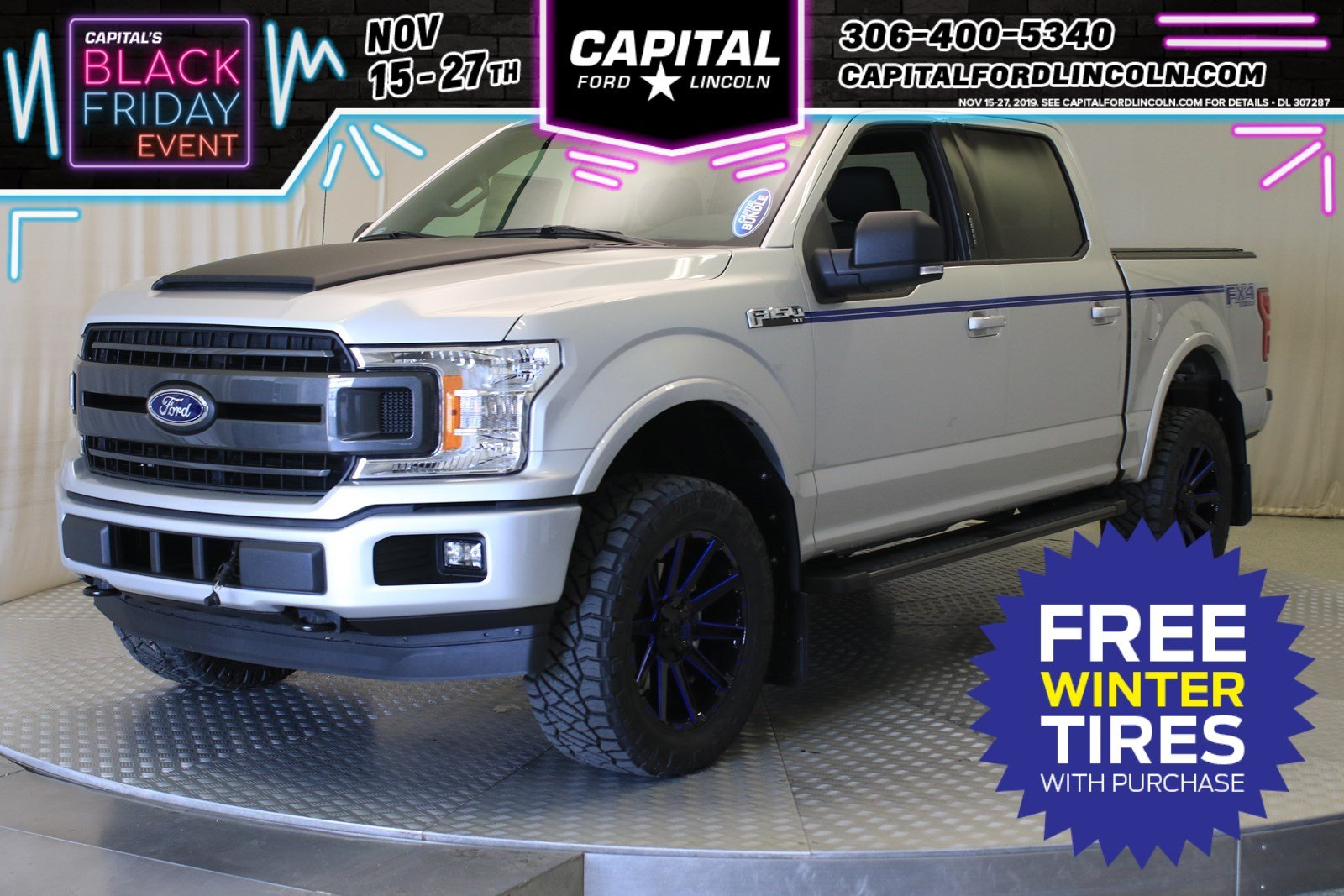 New 2019 Ford F-150 XLT *LEVEL KIT WITH 20 FUEL CONTRA WHEELS*