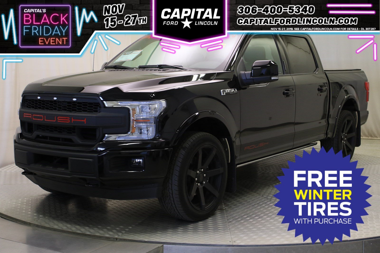 New 2019 Ford F-150 LARIAT *ROUSH SPORT PACKAGE W/ SUPERCHARGER*