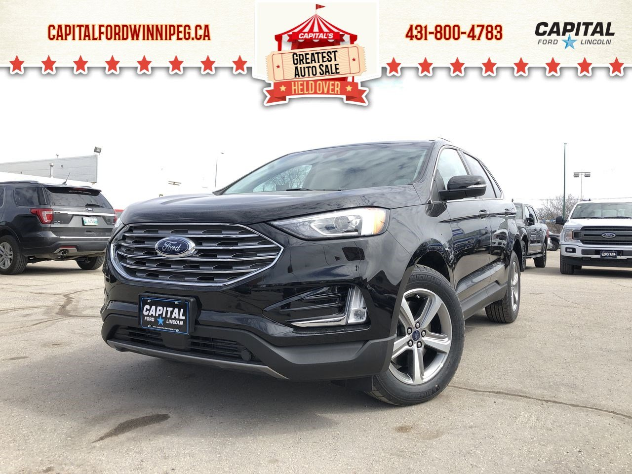 New 2019 Ford Edge SEL*AWD*Save $7 000!*Heated Seats*Bluetooth*Navigation*Wireless Charging