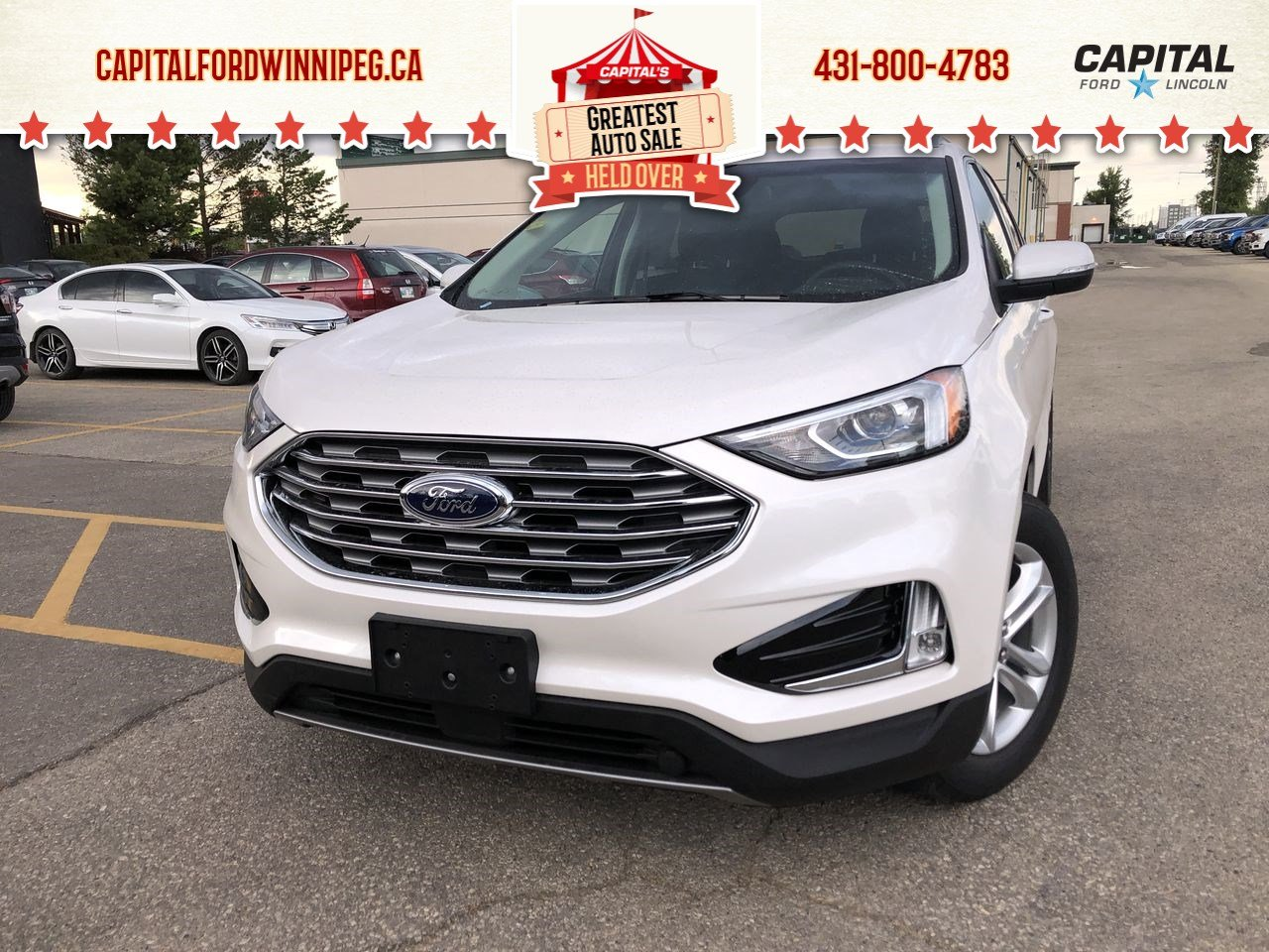 New 2019 Ford Edge SEL*AWD*Heated Seats*Bluetooth*Navigation*2.0L
