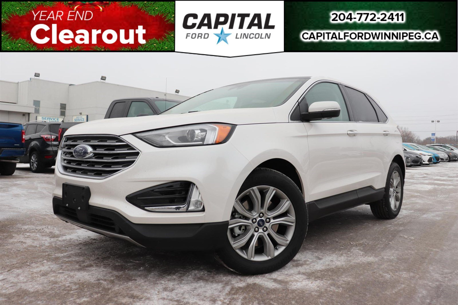 New 2019 Ford Edge Titanium*Moonroof*Navigation*Leather