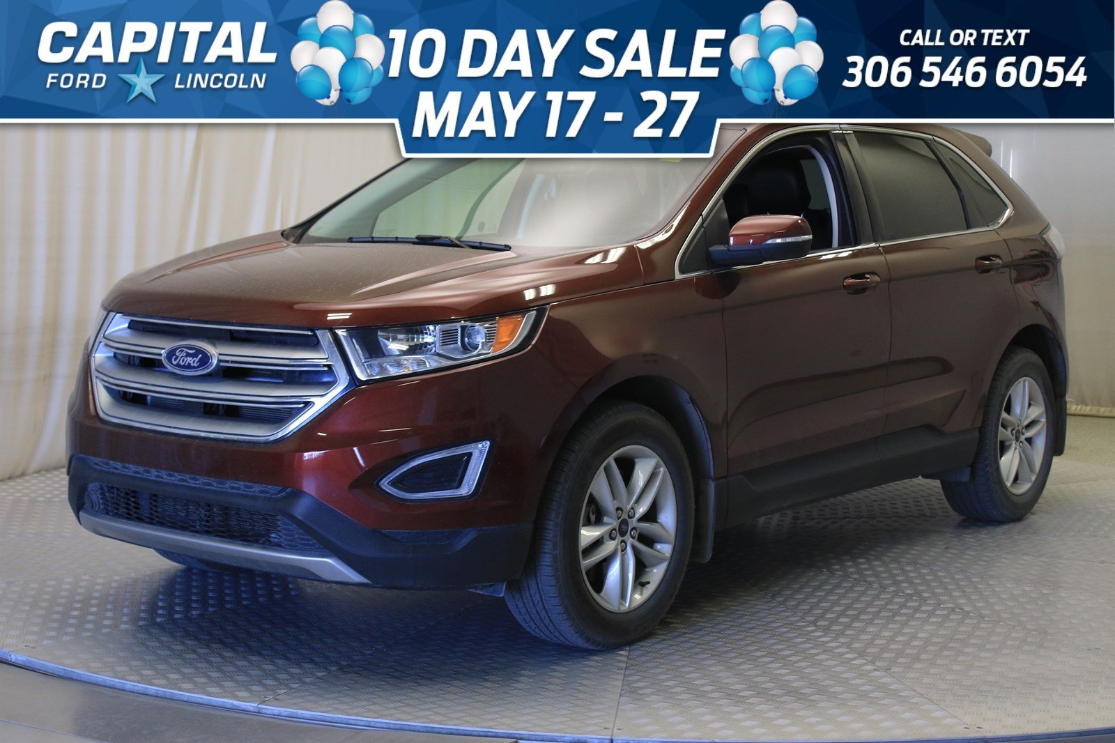 Pre Owned 2015 Ford Edge Sel Awd Leather Sunroof Navigation Awd Stock U185a