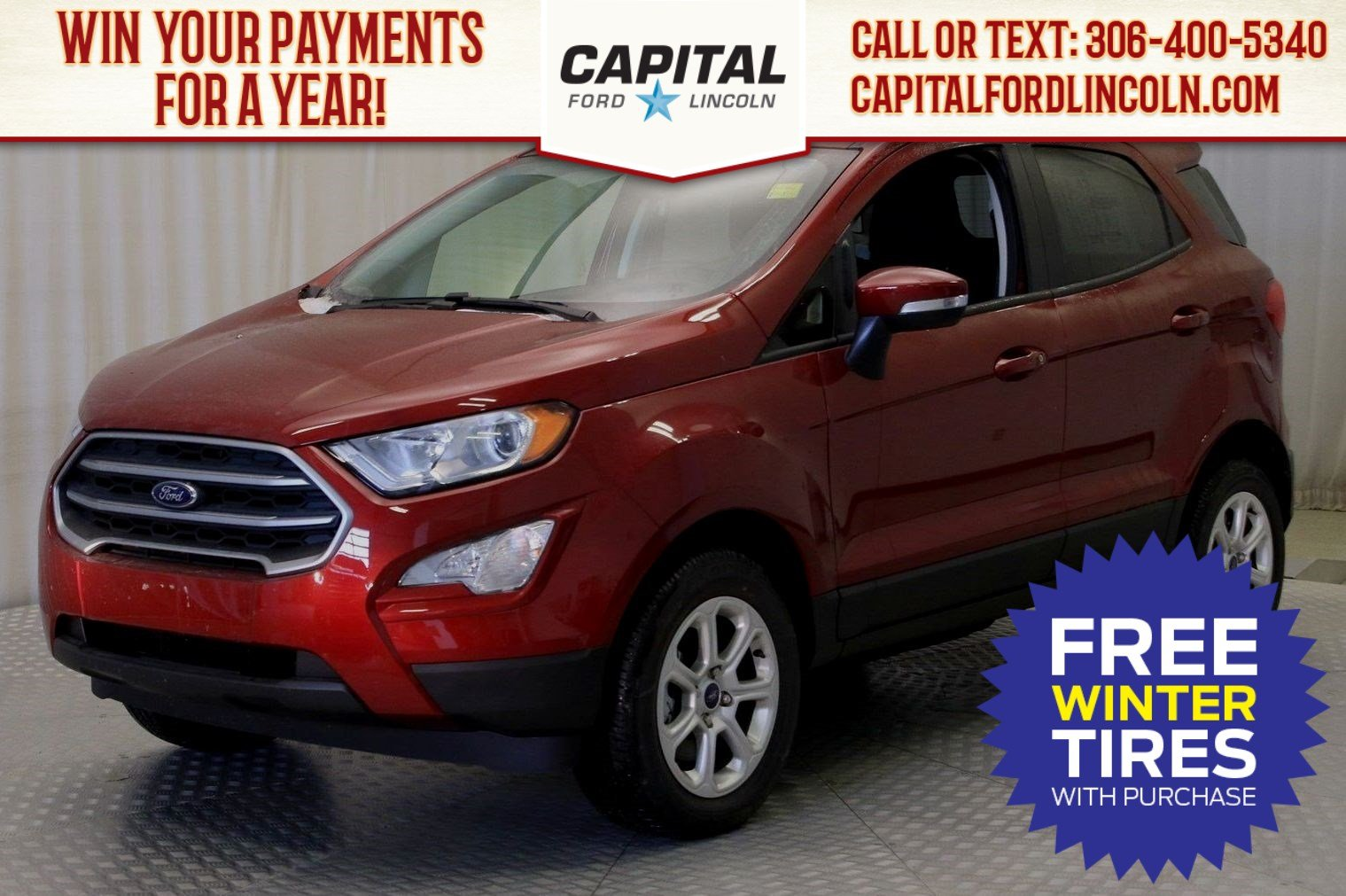 New 2019 Ford EcoSport SE With Navigation & 4WD Stock: U143