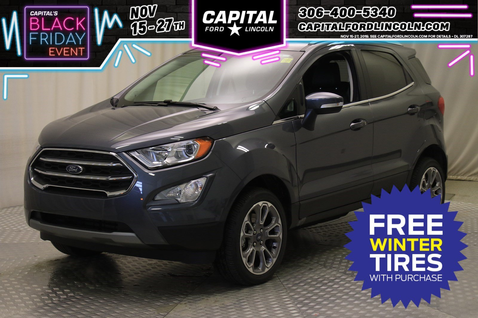 New 2019 Ford EcoSport Titanium With Navigation & 4WD Stock: U1276