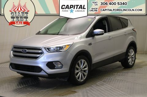 Pre-Owned 2017 Ford Escape Titanium 4WD * Leather * Sunroof * Navigation *