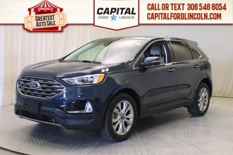 Pre-Owned 2019 Ford Edge Titanium AWD | 0% Financing | Leather | Sunroof |